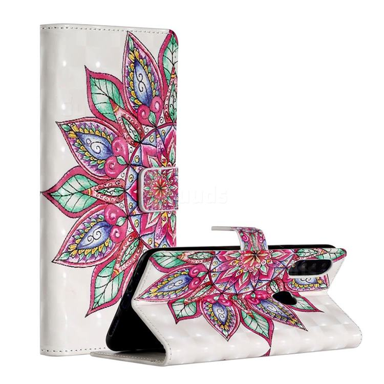 Mandara Flower 3D Painted Leather Phone Wallet Case for Samsung Galaxy A20s
