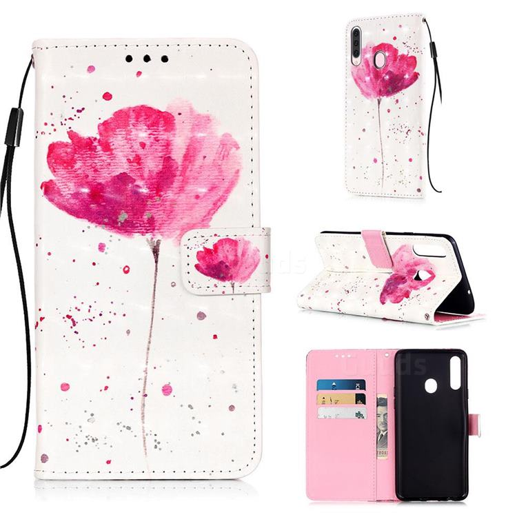 Watercolor 3D Painted Leather Wallet Case for Samsung Galaxy A20s