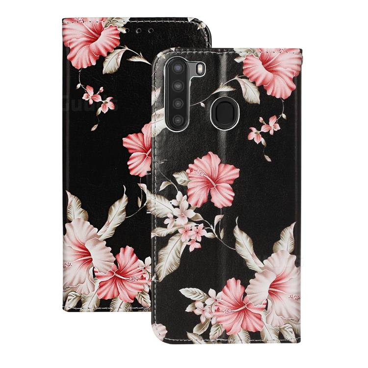 Azalea Flower PU Leather Wallet Case for Samsung Galaxy A21