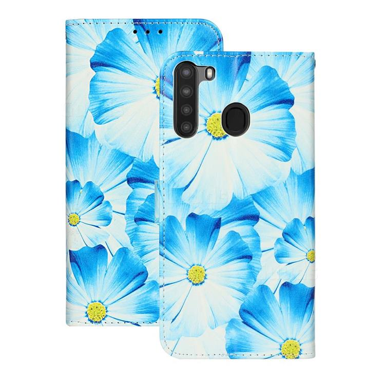 Orchid Flower PU Leather Wallet Case for Samsung Galaxy A21