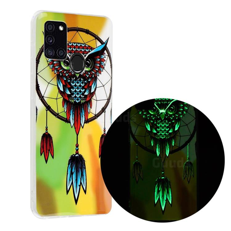 Owl Wind Chimes Noctilucent Soft TPU Back Cover for Samsung Galaxy A21s