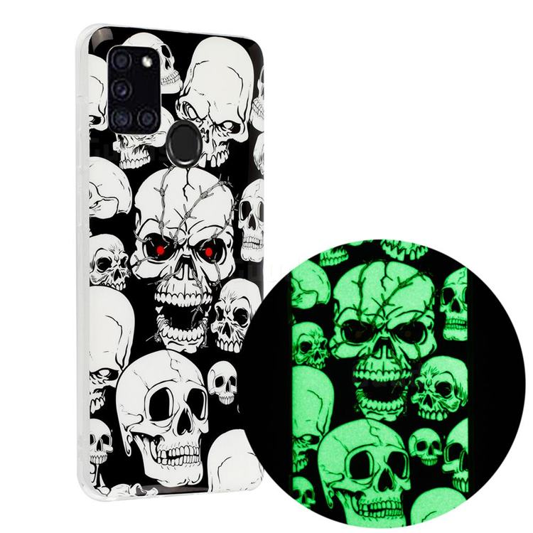 Red-eye Ghost Skull Noctilucent Soft TPU Back Cover for Samsung Galaxy A21s
