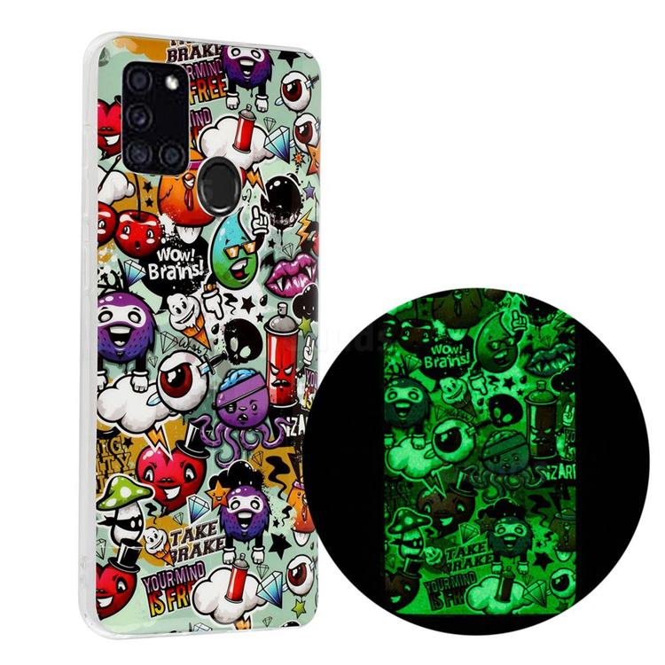 Trash Noctilucent Soft TPU Back Cover for Samsung Galaxy A21s