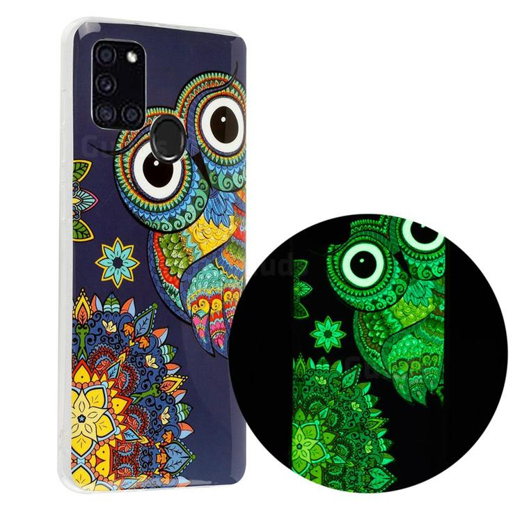 Tribe Owl Noctilucent Soft TPU Back Cover for Samsung Galaxy A21s