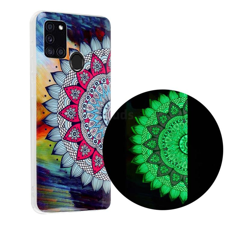 Colorful Sun Flower Noctilucent Soft TPU Back Cover for Samsung Galaxy A21s