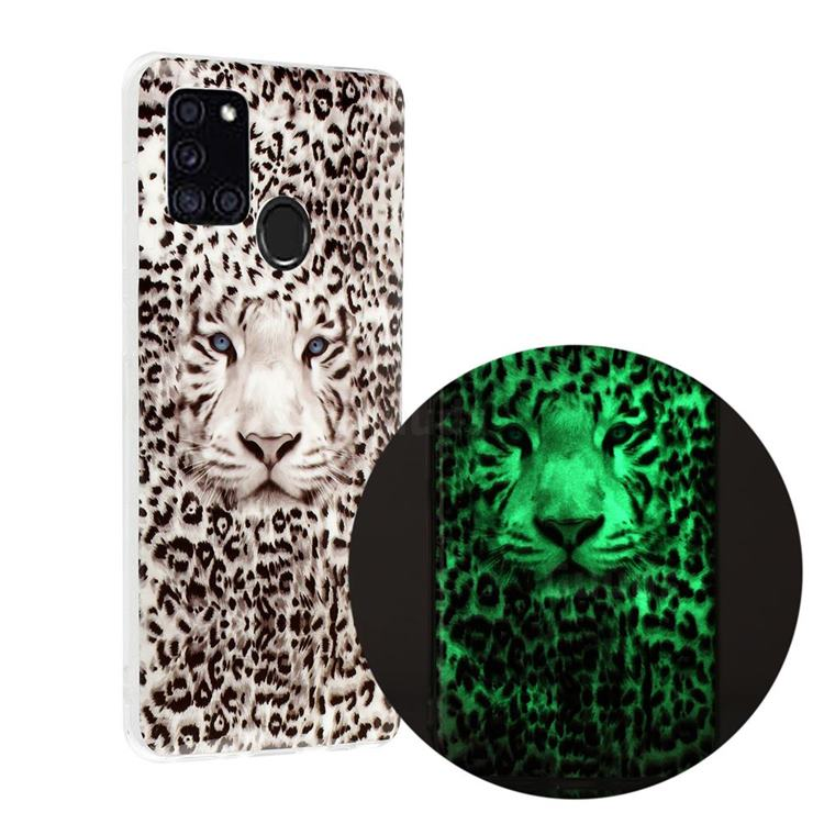 Leopard Tiger Noctilucent Soft TPU Back Cover for Samsung Galaxy A21s