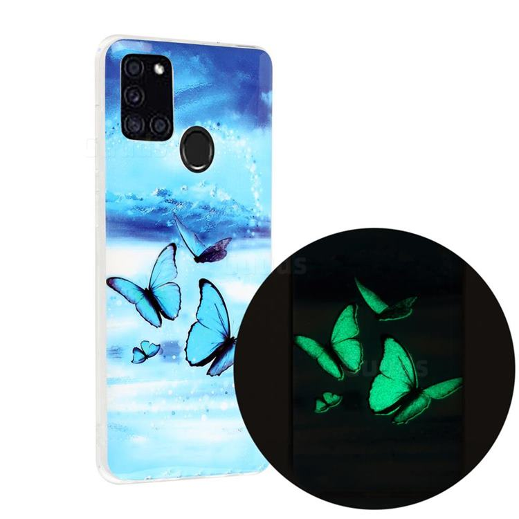 Flying Butterflies Noctilucent Soft TPU Back Cover for Samsung Galaxy A21s