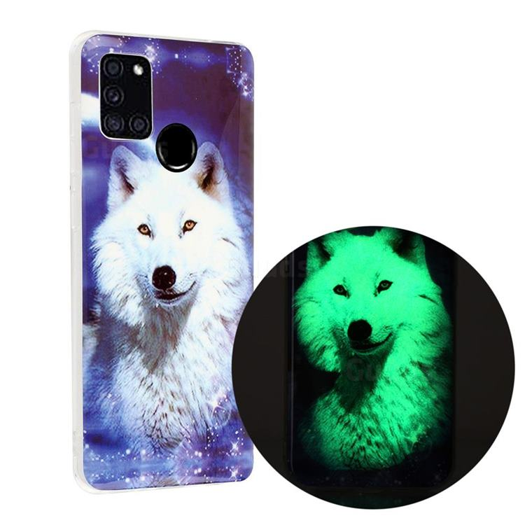 Galaxy Wolf Noctilucent Soft TPU Back Cover for Samsung Galaxy A21s