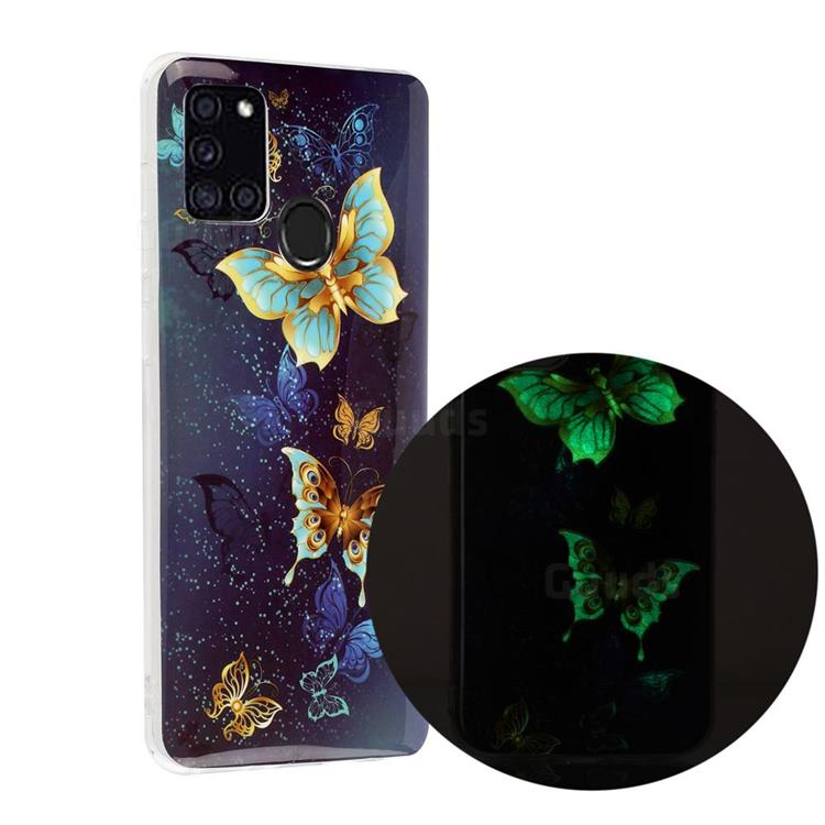 Golden Butterflies Noctilucent Soft TPU Back Cover for Samsung Galaxy A21s