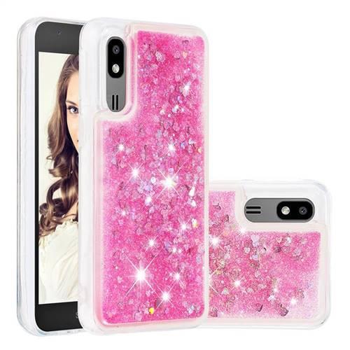 Dynamic Liquid Glitter Quicksand Sequins TPU Phone Case for Samsung Galaxy A2 Core - Rose