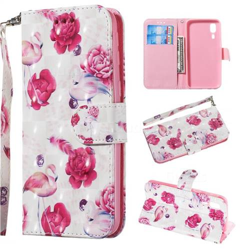 Flamingo 3D Painted Leather Wallet Phone Case for Samsung Galaxy A2 Core