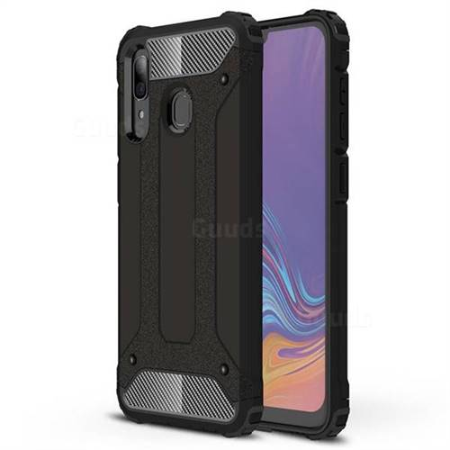 King Kong Armor Premium Shockproof Dual Layer Rugged Hard Cover for Samsung Galaxy A30 - Black Gold