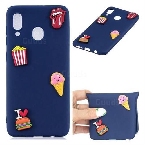 I Love Hamburger Soft 3D Silicone Case for Samsung Galaxy A30