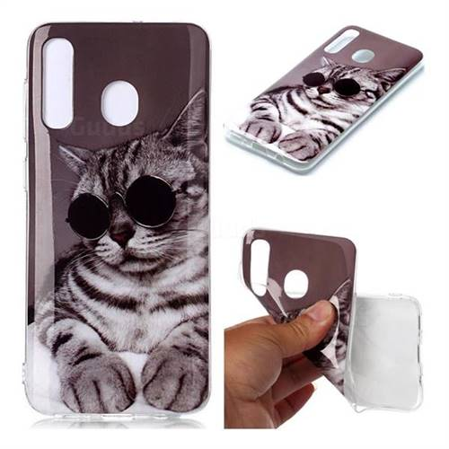 Kitten with Sunglasses Soft TPU Cell Phone Back Cover for Samsung Galaxy A30
