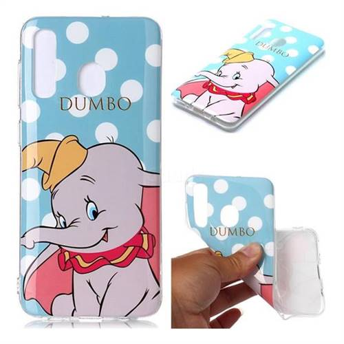 Dumbo Elephant Soft TPU Cell Phone Back Cover for Samsung Galaxy A30