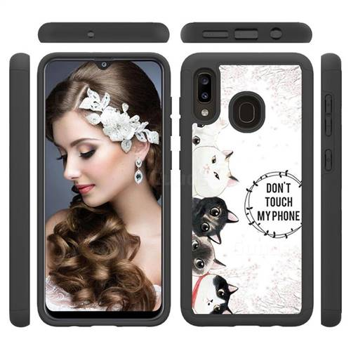 Cute Kittens Shock Absorbing Hybrid Defender Rugged Phone Case Cover for Samsung Galaxy A30