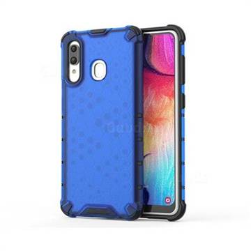 Honeycomb TPU + PC Hybrid Armor Shockproof Case Cover for Samsung Galaxy A30 - Blue
