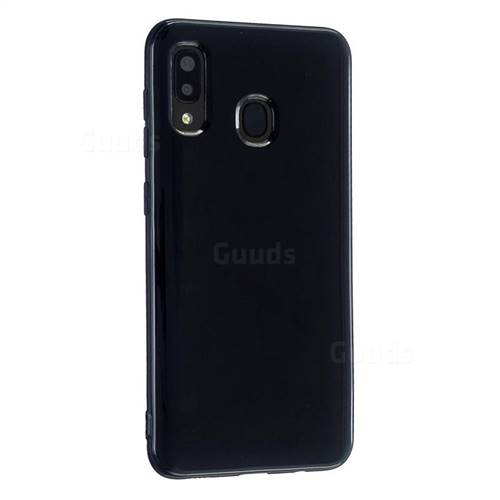 2mm Candy Soft Silicone Phone Case Cover for Samsung Galaxy A30 - Black