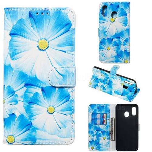 Orchid Flower PU Leather Wallet Case for Samsung Galaxy A30
