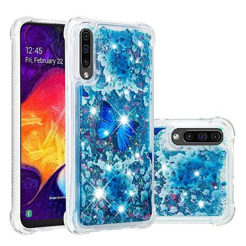 Flower Butterfly Dynamic Liquid Glitter Sand Quicksand Star TPU Case for Samsung Galaxy A30s