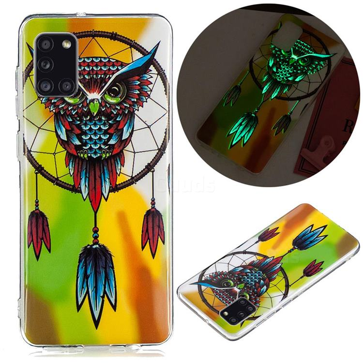 Owl Wind Chimes Noctilucent Soft TPU Back Cover for Samsung Galaxy A31