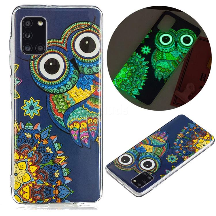 Tribe Owl Noctilucent Soft TPU Back Cover for Samsung Galaxy A31