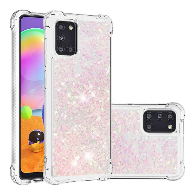 Dynamic Liquid Glitter Sand Quicksand TPU Case for Samsung Galaxy A31 - Silver Powder Star
