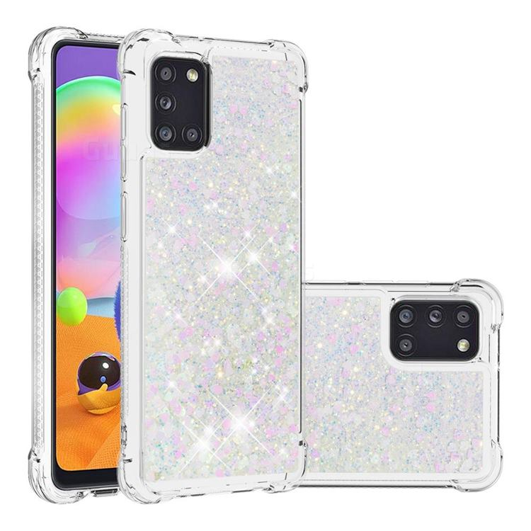 Dynamic Liquid Glitter Sand Quicksand Star TPU Case for Samsung Galaxy A31 - Pink