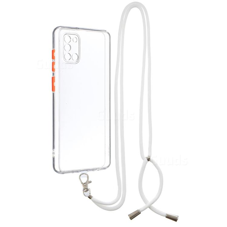 Necklace Cross-body Lanyard Strap Cord Phone Case Cover for Samsung Galaxy A31 - Transparent