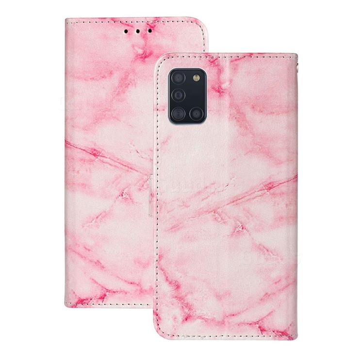 Pink Marble PU Leather Wallet Case for Samsung Galaxy A31