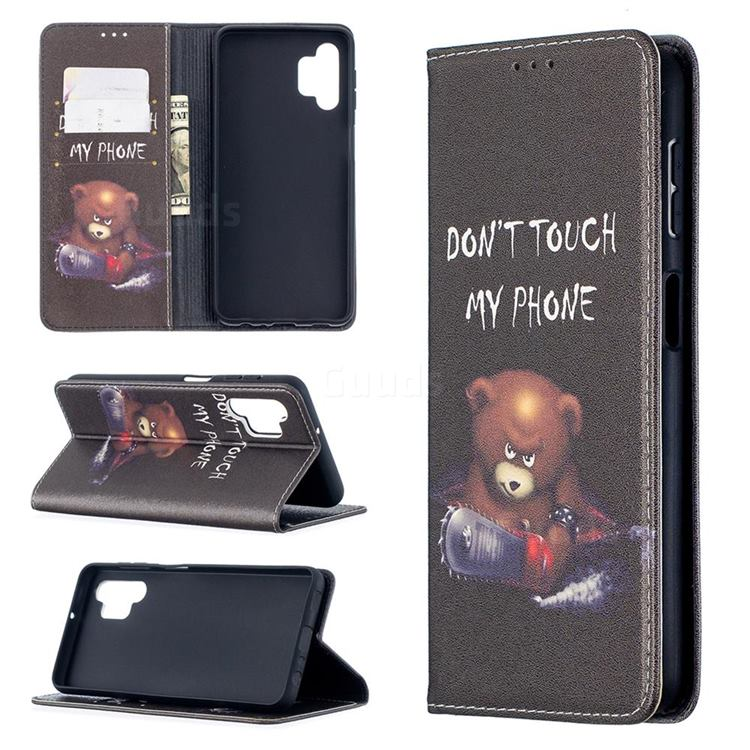 Chainsaw Bear Slim Magnetic Attraction Wallet Flip Cover for Samsung Galaxy A32 5G