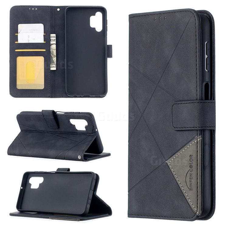 Binfen Color BF05 Prismatic Slim Wallet Flip Cover for Samsung Galaxy A32 5G - Black