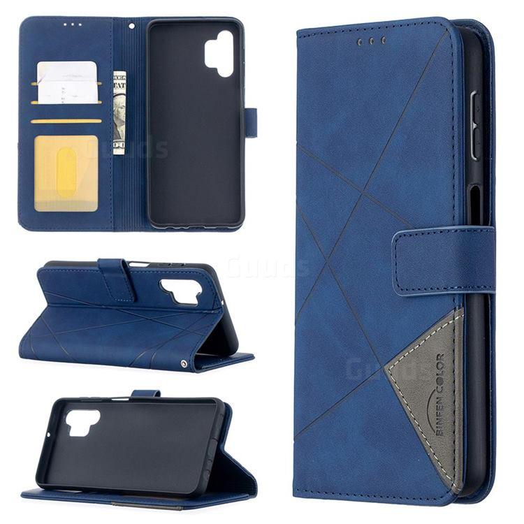 Binfen Color BF05 Prismatic Slim Wallet Flip Cover for Samsung Galaxy A32 5G - Blue