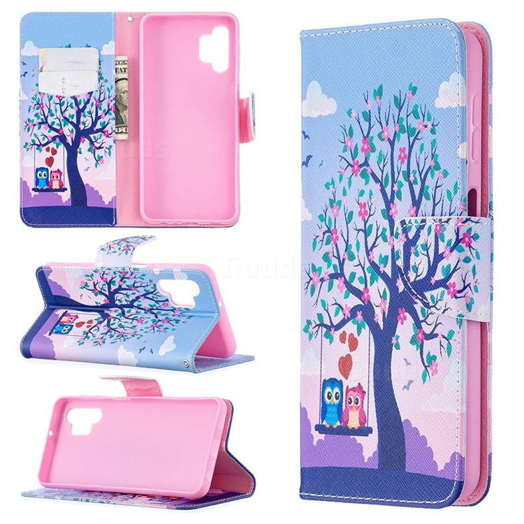 Tree and Owls Leather Wallet Case for Samsung Galaxy A32 5G