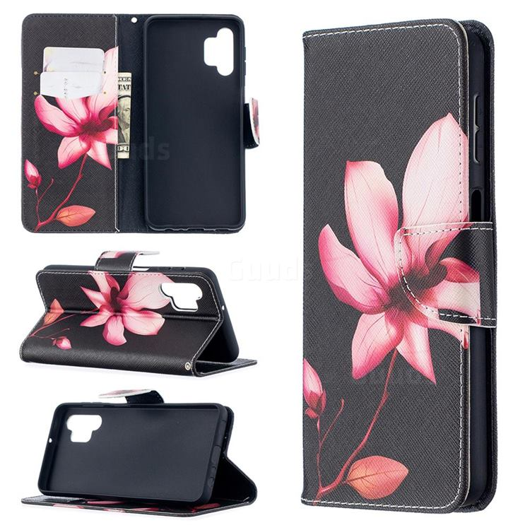 Lotus Flower Leather Wallet Case for Samsung Galaxy A32 5G