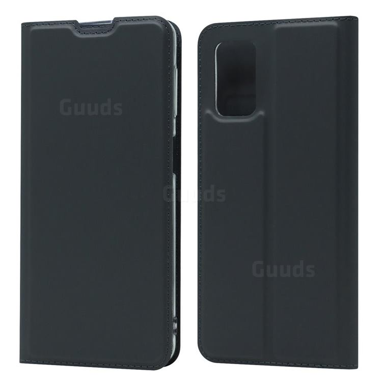 Ultra Slim Card Magnetic Automatic Suction Leather Wallet Case for Samsung Galaxy A32 5G - Star Grey