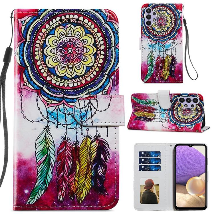 Dreamcatcher Smooth Leather Phone Wallet Case for Samsung Galaxy A32 5G