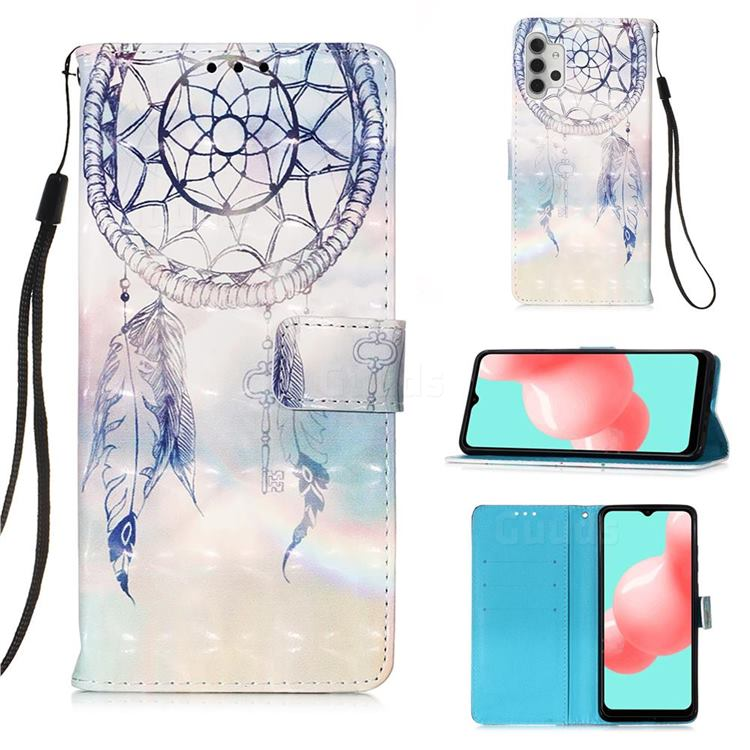 Fantasy Campanula 3D Painted Leather Wallet Case for Samsung Galaxy A32 5G