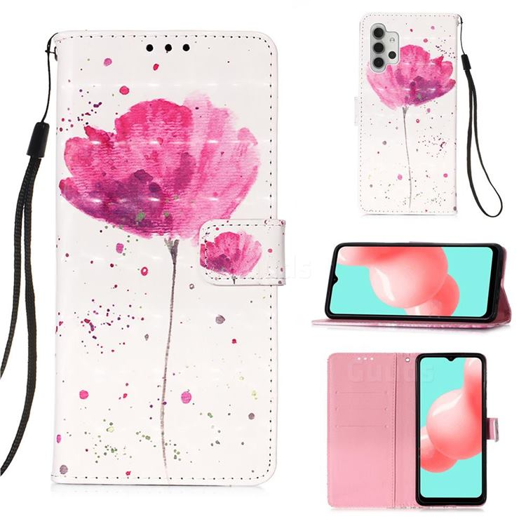 Watercolor 3D Painted Leather Wallet Case for Samsung Galaxy A32 5G