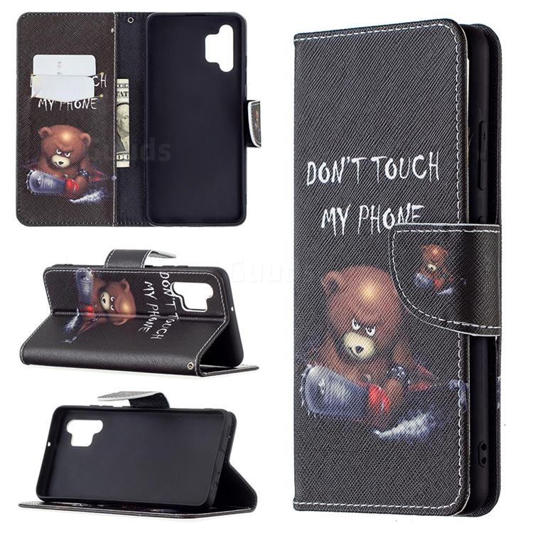 Chainsaw Bear Leather Wallet Case for Samsung Galaxy A32 4G
