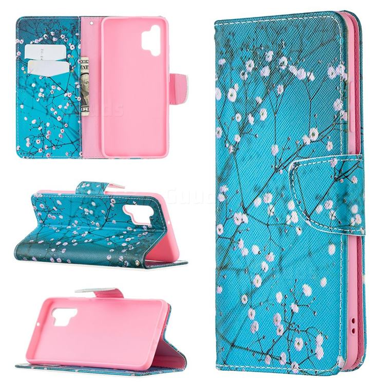 Blue Plum Leather Wallet Case for Samsung Galaxy A32 4G