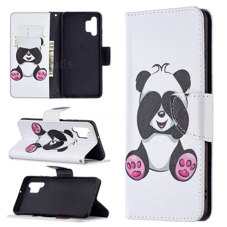 Lovely Panda Leather Wallet Case for Samsung Galaxy A32 4G