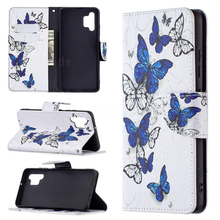 Flying Butterflies Leather Wallet Case for Samsung Galaxy A32 4G