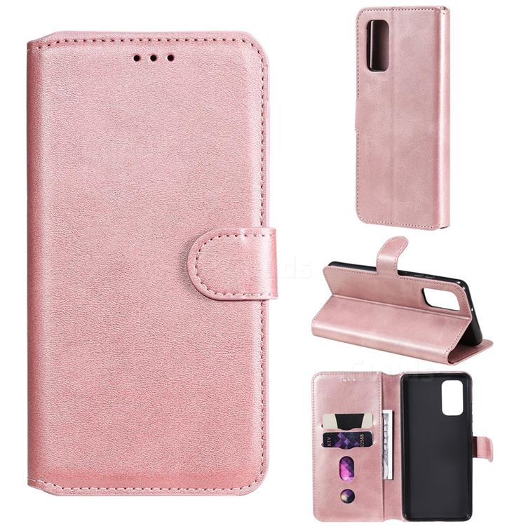 Retro Calf Matte Leather Wallet Phone Case for Samsung Galaxy A32 4G - Pink