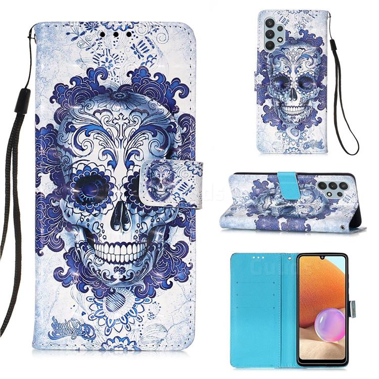 Cloud Kito 3D Painted Leather Wallet Case for Samsung Galaxy A32 4G