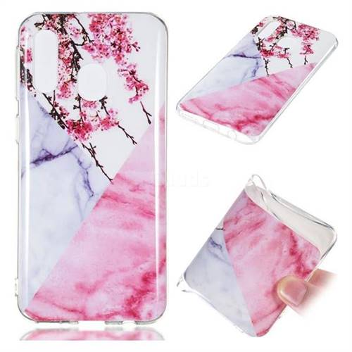 Pink Plum Soft TPU Marble Pattern Case for Samsung Galaxy A40