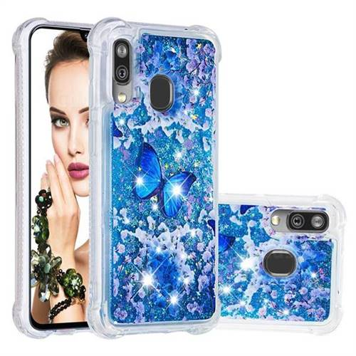 Flower Butterfly Dynamic Liquid Glitter Sand Quicksand Star TPU Case for Samsung Galaxy A40
