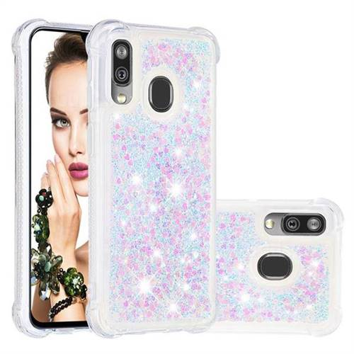 Dynamic Liquid Glitter Sand Quicksand Star TPU Case for Samsung Galaxy A40 - Pink
