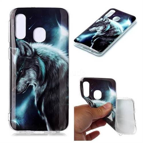 Fierce Wolf Soft TPU Cell Phone Back Cover for Samsung Galaxy A40