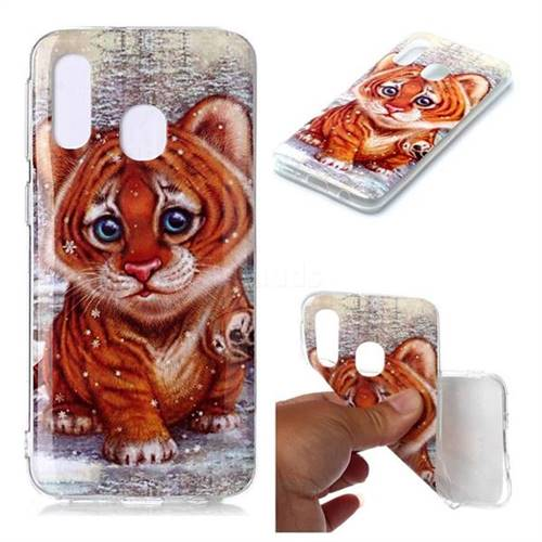 Cute Tiger Baby Soft TPU Cell Phone Back Cover for Samsung Galaxy A40